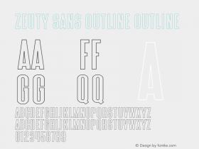 Zeuty Sans Outline