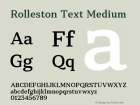 Rolleston Text
