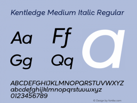 Kentledge Medium Italic