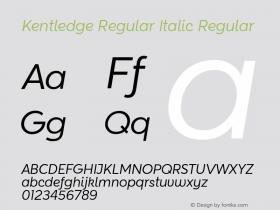 Kentledge Regular Italic