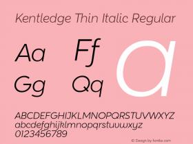 Kentledge Thin Italic