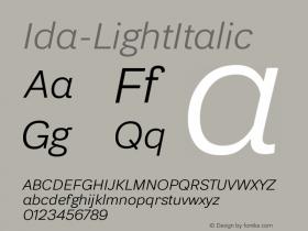 Ida-LightItalic