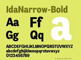 IdaNarrow-Bold