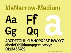 IdaNarrow-Medium