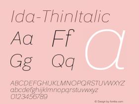 Ida-ThinItalic