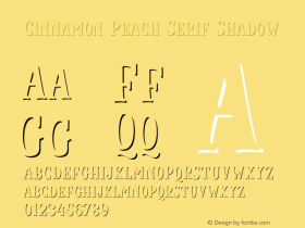 Cinnamon Peach Serif