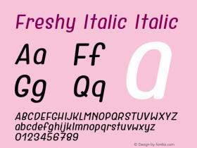 Freshy Italic