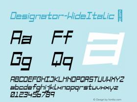Designator-WideItalic