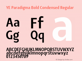 YE Paradigma Bold Condensed