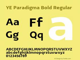 YE Paradigma Bold