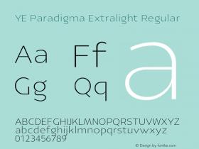 YE Paradigma Extralight