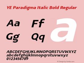 YE Paradigma Italic Bold