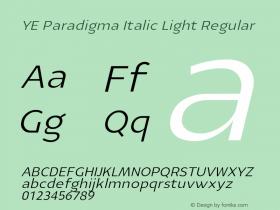YE Paradigma Italic Light