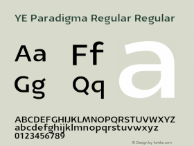 YE Paradigma Regular