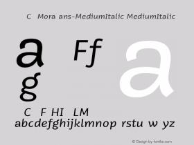 VNYGCQ+MoraSans-MediumItalic