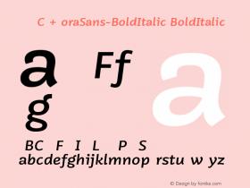 VNYGCQ+MoraSans-BoldItalic