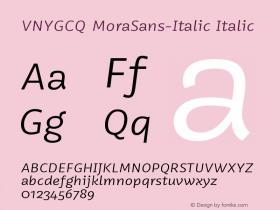 VNYGCQ+MoraSans-Italic