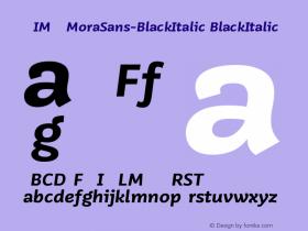 WVIMQO+MoraSans-BlackItalic