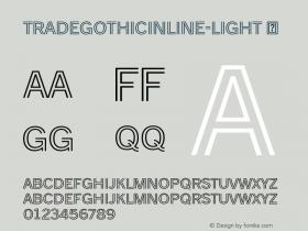 TradeGothicInline-Light