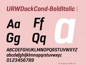 URWDockCond-BoldItalic
