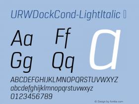 URWDockCond-LightItalic