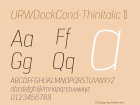URWDockCond-ThinItalic