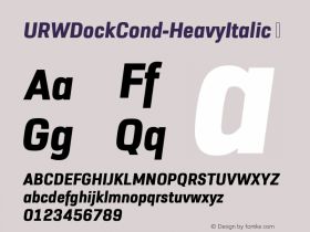 URWDockCond-HeavyItalic