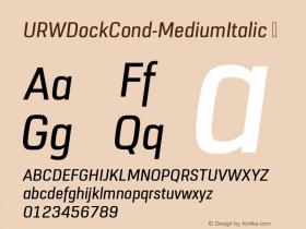 URWDockCond-MediumItalic