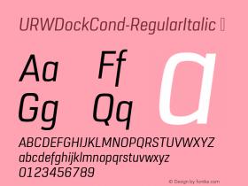 URWDockCond-RegularItalic