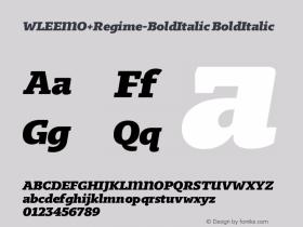 WLEEMO+Regime-BoldItalic