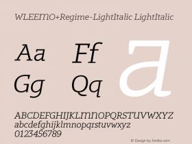 WLEEMO+Regime-LightItalic