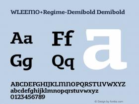 WLEEMO+Regime-Demibold
