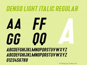 Denso Light Italic
