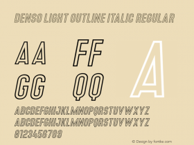 Denso Light Outline Italic