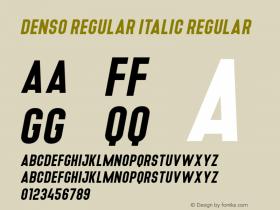 Denso Regular Italic