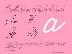 Papillon Script Regular
