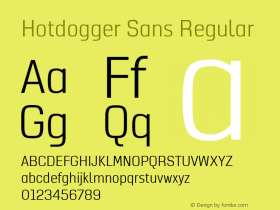 Hotdogger Sans