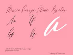 Monica Script Slant