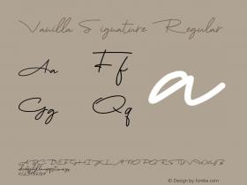 Vanilla Signature