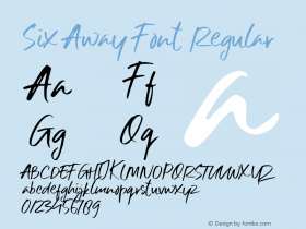 Six Away Font