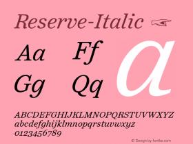 Reserve-Italic