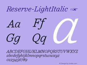 Reserve-LightItalic