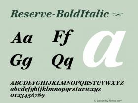 Reserve-BoldItalic