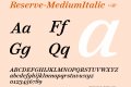 Reserve-MediumItalic