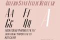 Aguero Sans Italic