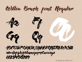 Willow Brush font