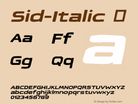 Sid-Italic
