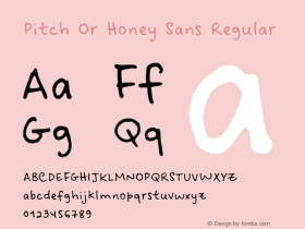 Pitch Or Honey Sans