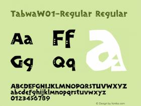 TabwaW01-Regular