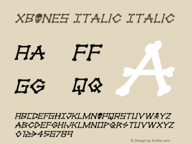 xBONES Italic